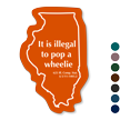 Motorcycle Wheelie Law, Illinois Novelty Law Sign