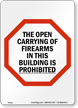 Kansas No Guns Law Sign