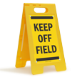 Keep Off Grass FloorBoss XL™ Free-Standing Sign