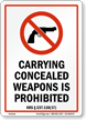 Kentucky Firearms And Weapons Law Sign