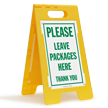 Package Delivery FloorBoss XL™ Free-Standing Sign