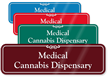 Medical Cannabis Dispensary ShowCase Wall Sign