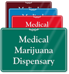 Medical Marijuana Dispensary ShowCase Wall Sign