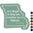Missouri, Highway Rules Novelty Law Sign