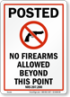 Nevada Firearms And Weapons Law Sign