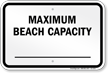 New York Maximum Beach Capacity Sign