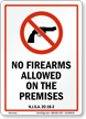 New Jersey Firearms And Weapons Law Sign