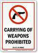 New Mexico Firearms And Weapons Law Sign