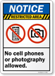 ANSI Notice Restricted Area Sign