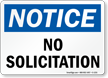 Notice No Solicitation Sign