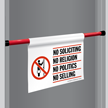 No Soliciting Religion Door Barricade Sign
