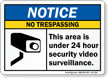 ANSI Notice No Trespassing Sign