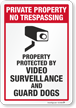 No Trespassing Video Surveillance Sign