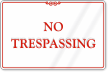 No Trespassing ShowCase™ Wall Sign