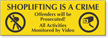Offenders Will Be Prosecuted Engraved Shoplifting Sign