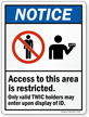 Access To This Area Is Restricted, Marsec Sign