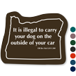 Oregon Law Dog Rules Tactiletouch Novelty Sign