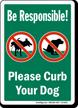 Polite Dog Poop Sign