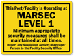 Port/Facility Is Operating At Marsec Level 1 Sign