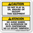Bilingual ANSI Caution Label