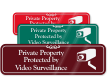 Private Property Protected By Video Surveillance ShowCase Sign