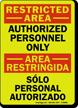Bilingual Restricted Area / Area Restringida Glow Sign