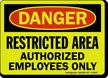 Glowing OSHA Danger Sign