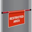 Restricted Area Door Barricade Sign
