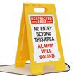 Security Alarm Sound FloorBoss XL™ Free-Standing Sign