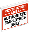 2-Sided Restricted Area Z-Sign For Ceiling