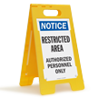 Restricted Area FloorBoss XL™ Free-Standing Sign