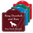 Ring Doorbell And Run Funny ShowCase Sign