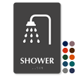 Shower Tactile Touch Braille Sign