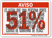 Spanish, Red 51% Handgun Warning Sign