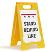 Security Checkpoint FloorBoss XL™ Free-Standing Sign