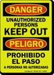 GlowSmart™ Bilingual OSHA Danger / Peligro Sign