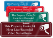 Property Under Live Recorded Video Surveillance Sign