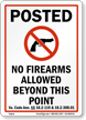 Virginia Firearms And Weapons Law Sign