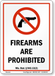 Wisconsin Firearms And Weapons Law Sign