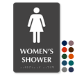 Women's Shower Tactile Touch Braille Door Sign