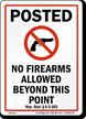 Wyoming Gun Control Law Sign