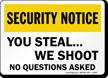 Security Notice Sign