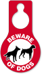 Beware Of Dogs Pear Shaped Hang Tag
