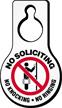 No Soliciting Knocking Ringing Door Hang Tag