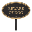 Beware Of Dog Oval Plaque
