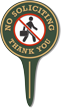 No Soliciting Thank You Lawn Stake Sign