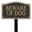 Beware Of Dog GardenBoss™ Statement Plaque With Stake