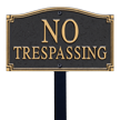 No Trespassing Statement Plaque