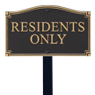 Residents Only GardenBoss™ Statement Plaque With Stake