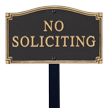 No Soliciting Statement Lawn Plaque